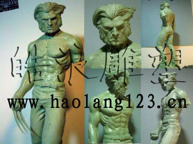 x—战警金刚狼雕像设计
