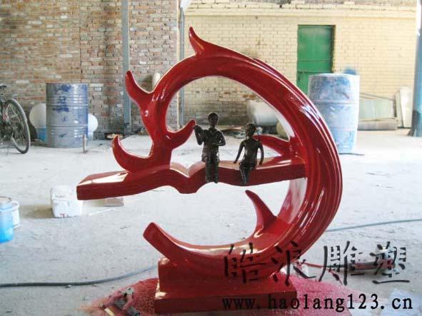 玻璃钢烤漆雕塑1